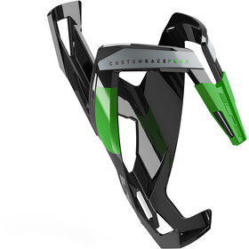 Elite Custom Race Plus Bottle Holder glossy black/green design